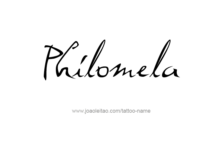 Tattoo Design Mythology Name Philomela