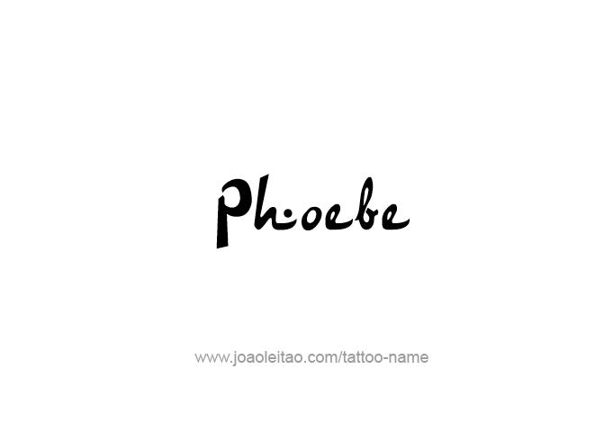 Tattoo Design Mythology Name Phoebe