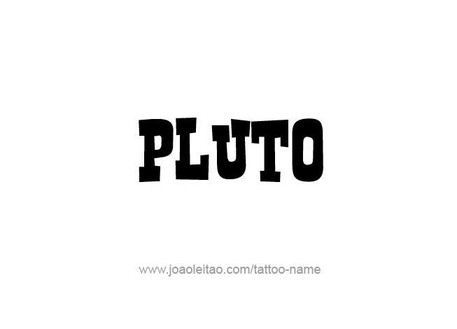 Tattoo Design Mythology Name Pluto