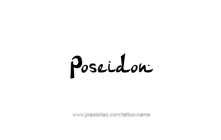 Tattoo Design Mythology Name Poseidon