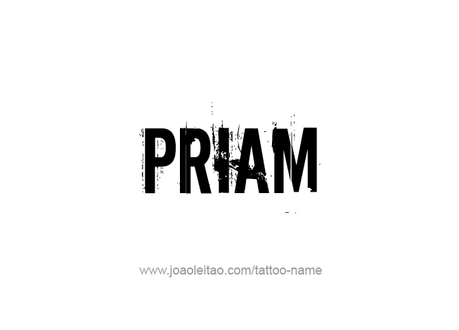 Tattoo Design Mythology Name Priam