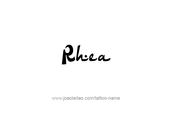 Tattoo Design Mythology Name Rhea