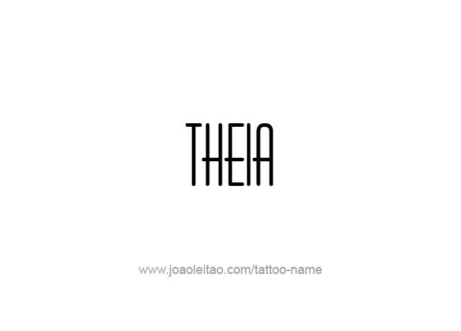 Tattoo Design Mythology Name Theia