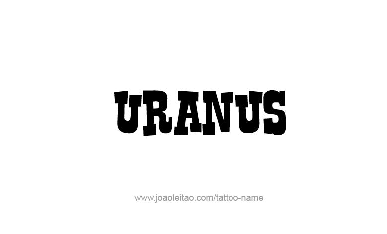Tattoo Design Mythology Name Uranus