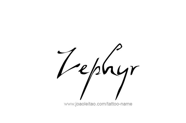 Tattoo Design Mythology Name Zephyr