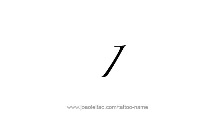 Tattoo Design Roman Numeral I (1)