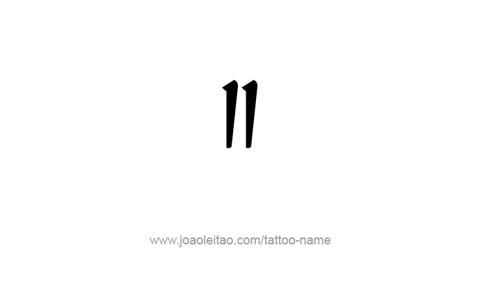 Tattoo Design Roman Numeral II (2)