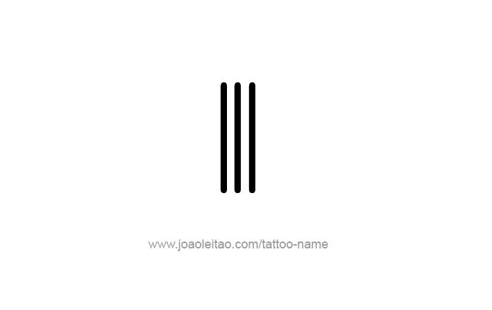 Number 3 Tattoo Ideas: III Roman Numeral Tattoo Design