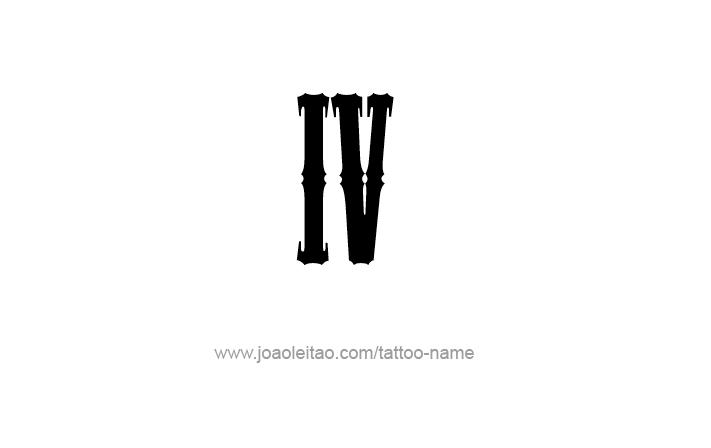 Tattoo Design Roman Numeral IV (4)