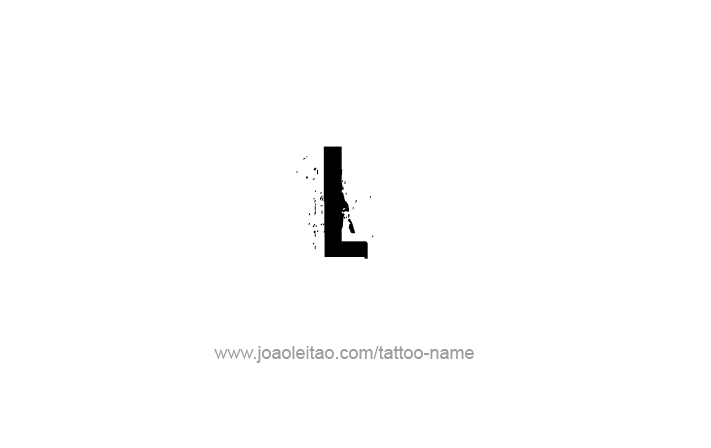 Tattoo Design Roman Numeral L (50)