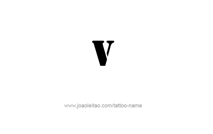 Tattoo Design Roman Numeral V (5)