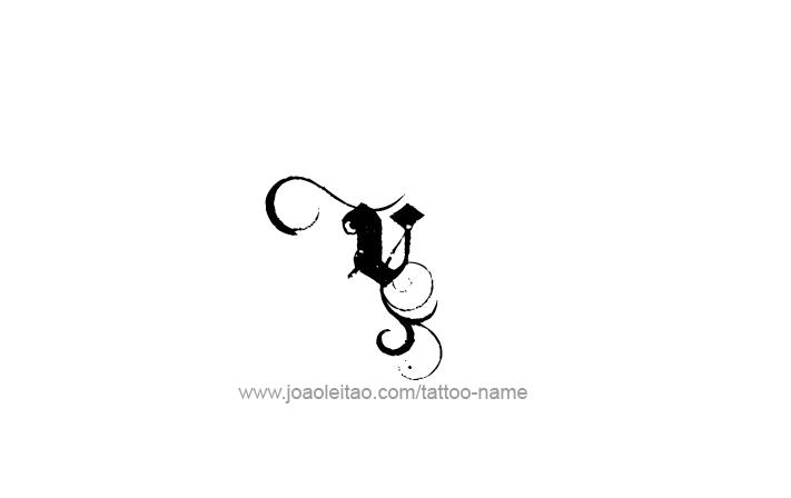 Tattoo Design Roman Numeral V (5)