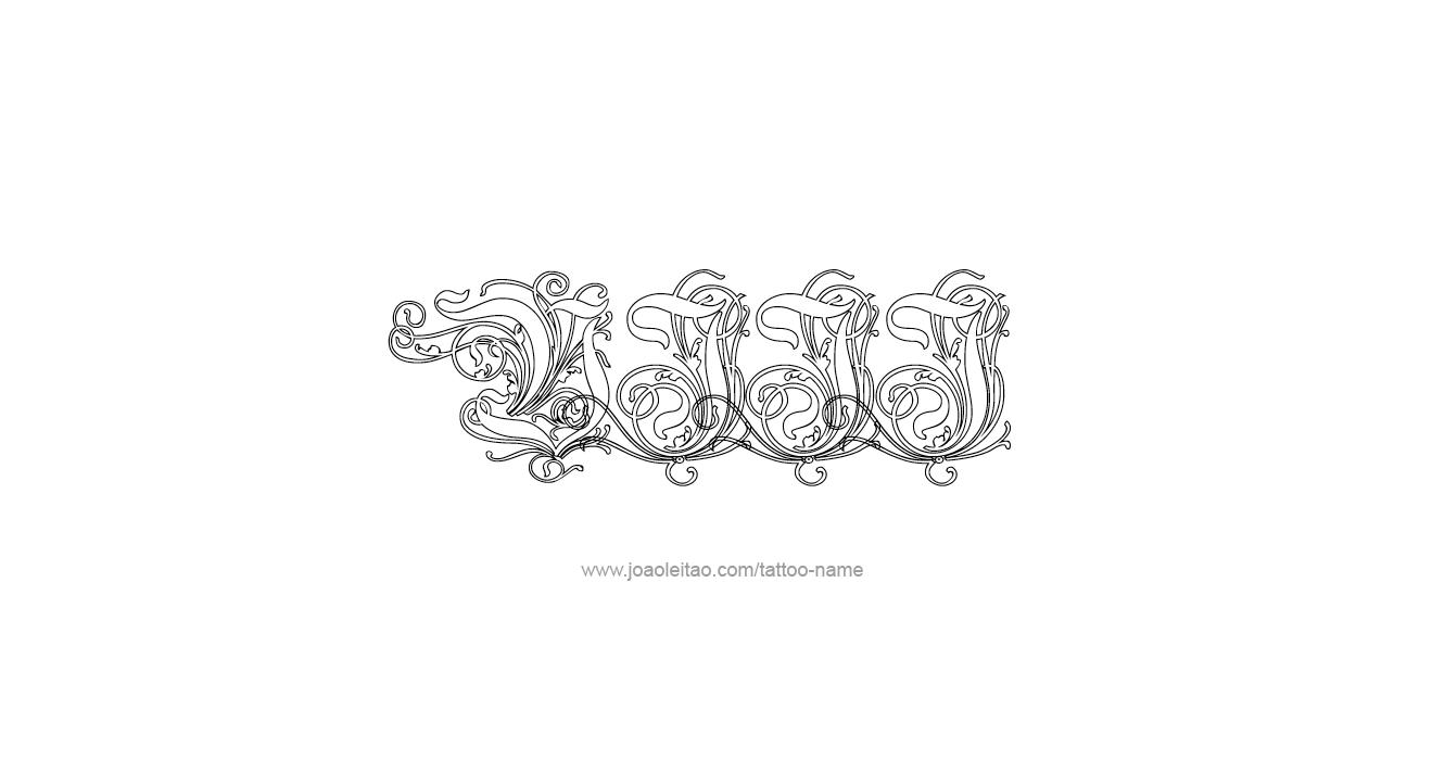 Tattoo Design Roman Numeral VIII (8)