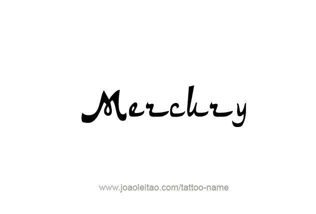 Tattoo Design Planet Name Mercury