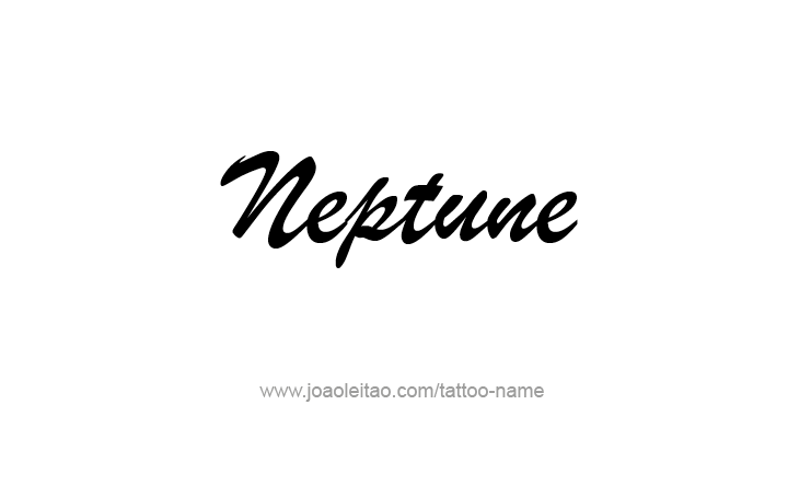 Tattoo Design Planet Name Neptune