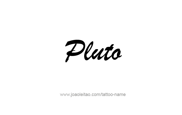 Tattoo Design Planet Name Pluto