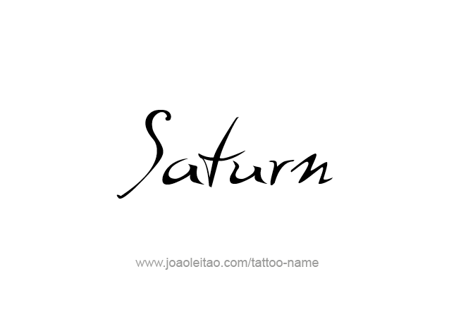 Saturn Planet Name Tattoo Designs Tattoos With Names