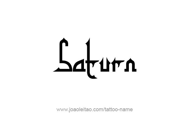 Tattoo Design Planet Name Saturn