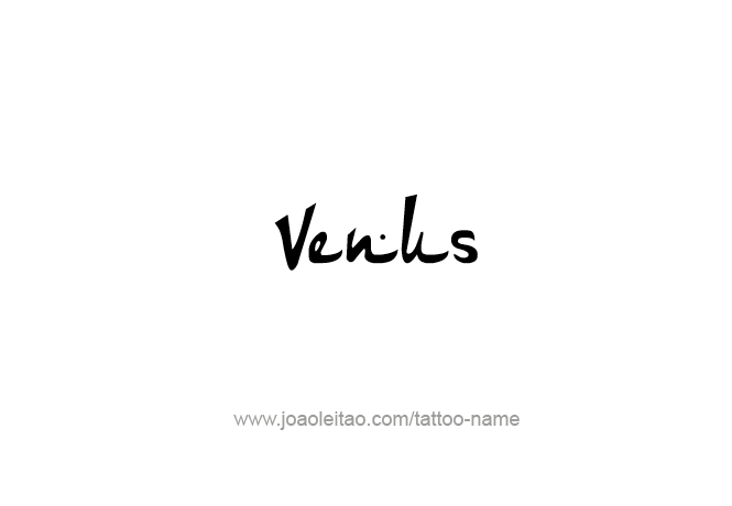 Tattoo Design Planet Name Venus