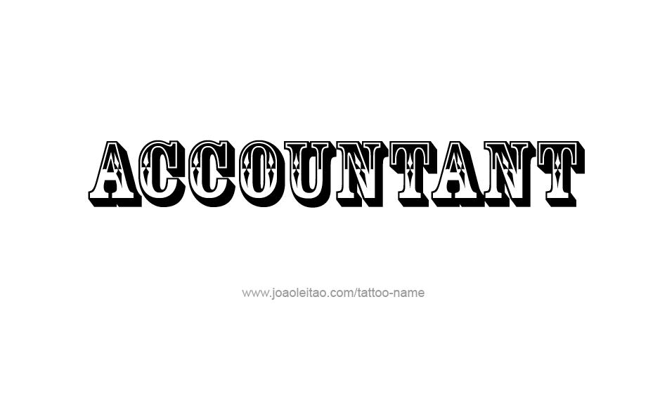 Tattoo Design Profession Name Accountant
