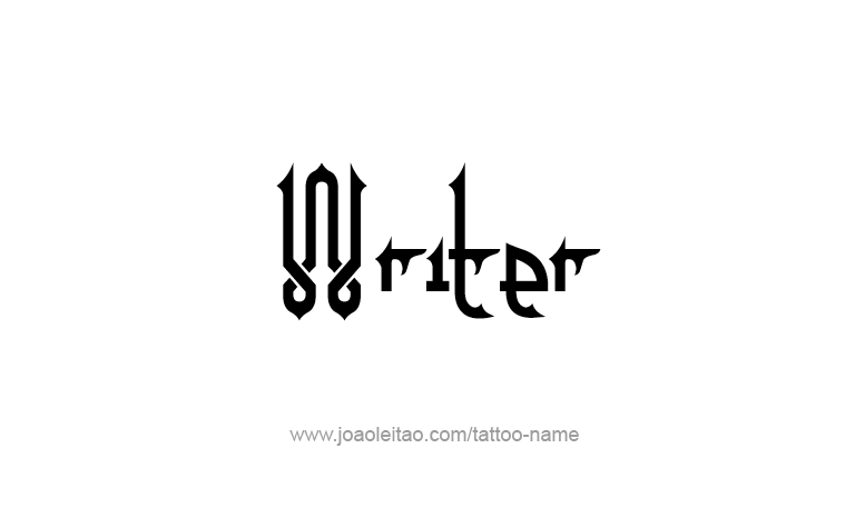 Tattoo Design Profession Name Writer