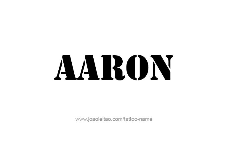 Tattoo Design Prophet Name Aaron