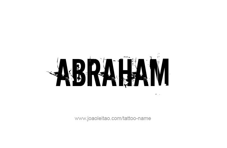 Tattoo Design Prophet Name Abraham