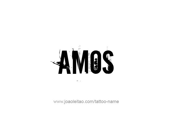 Tattoo Design Prophet Name Amos