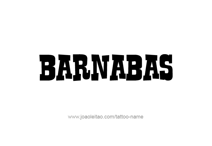 Tattoo Design Prophet Name Barnabas