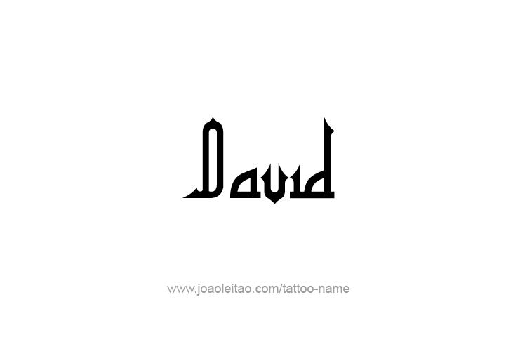 Tattoo Design Prophet Name David