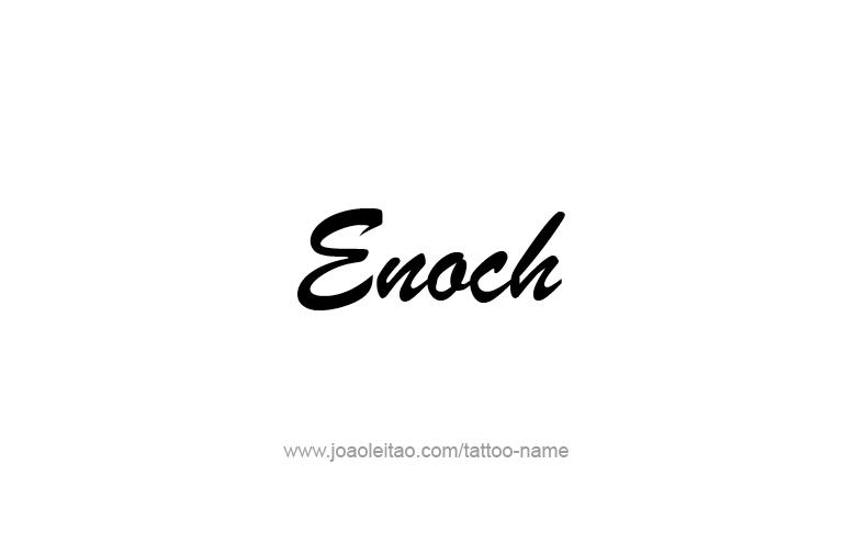 Tattoo Design Prophet Name Enoch