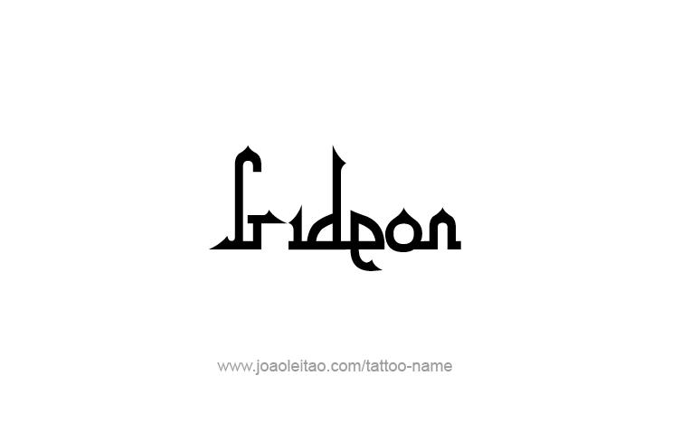 Tattoo Design Prophet Name Gideon