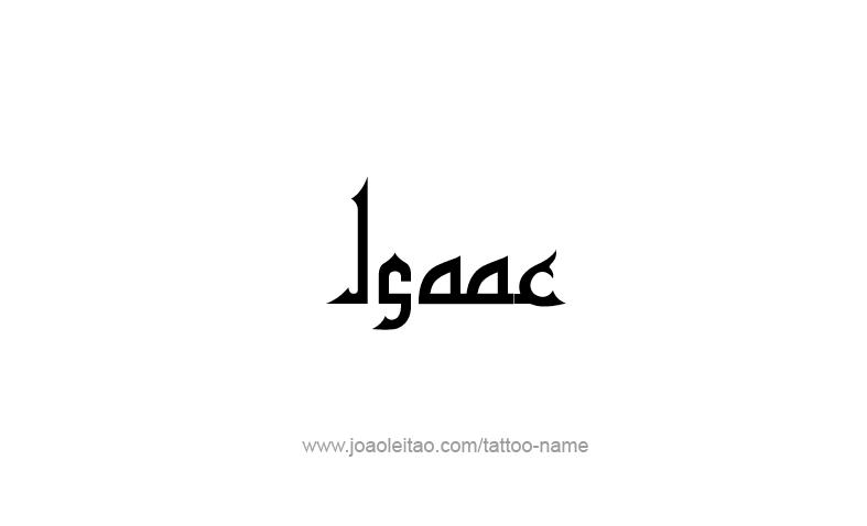Tattoo Design Prophet Name Isaac