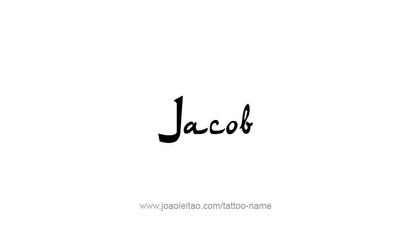 Tattoo Design Prophet Name Jacob