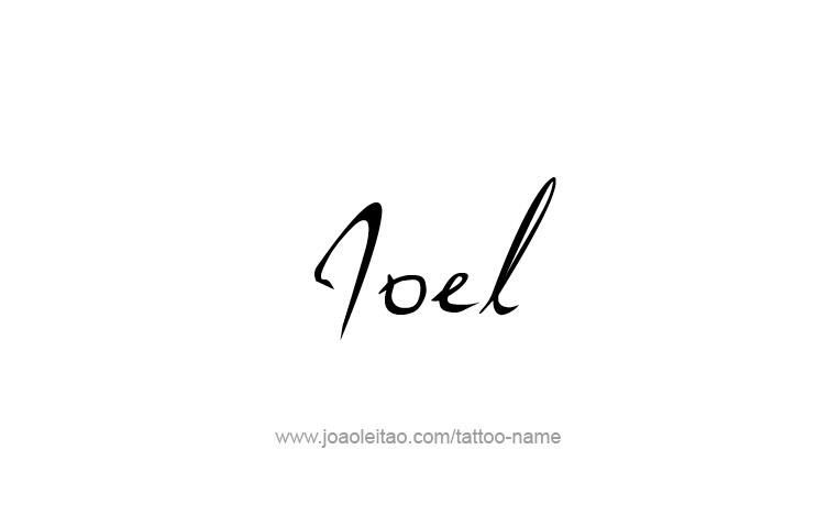 Tattoo Design Prophet Name Joel