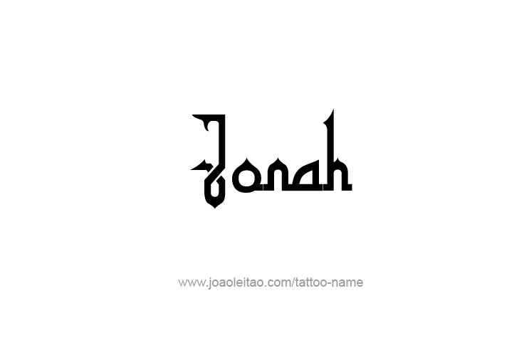 Tattoo Design Prophet Name Jonah
