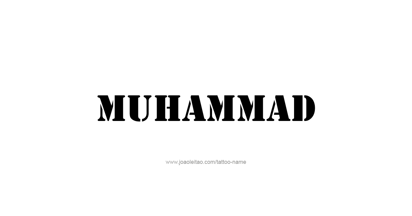 Tattoo Design Prophet Name Muhammad