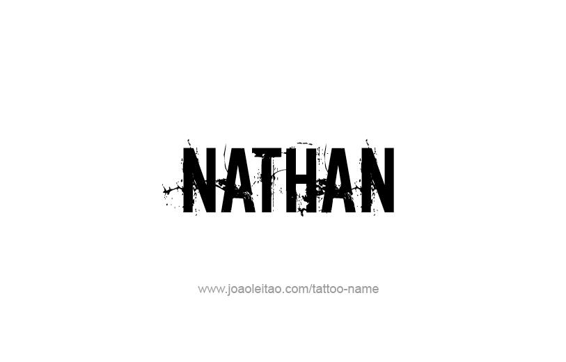 Tattoo Design Prophet Name Nathan