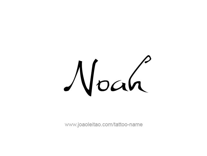 Tattoo Design Prophet Name Noah