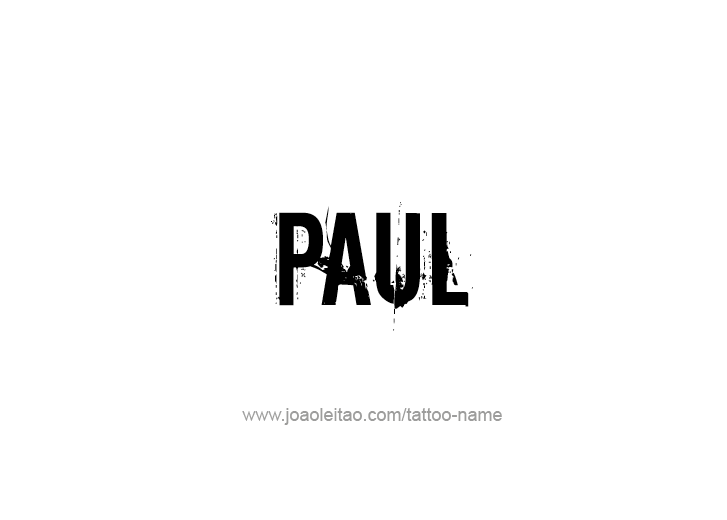 Tattoo Design Prophet Name Paul
