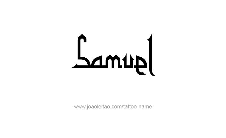Tattoo Design Prophet Name Samuel