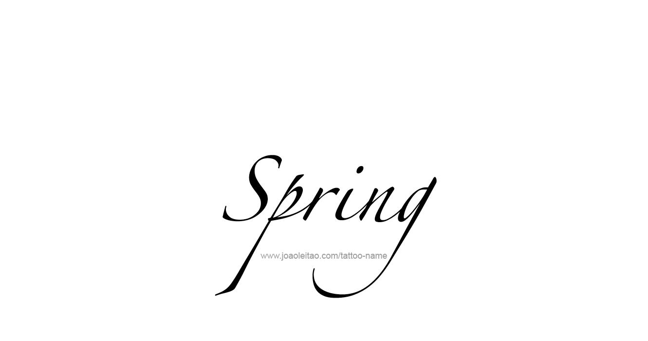 Tattoo Design Season Name Spring