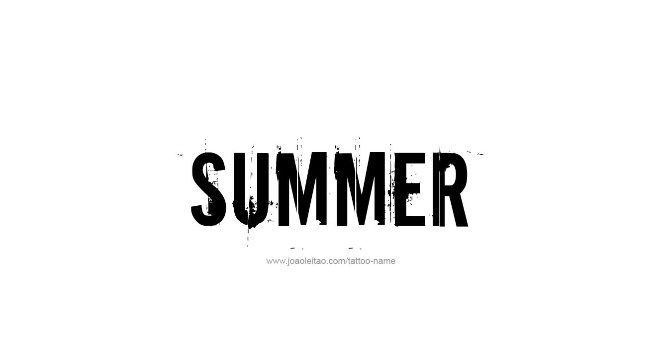 Tattoo Design Season Name Summer