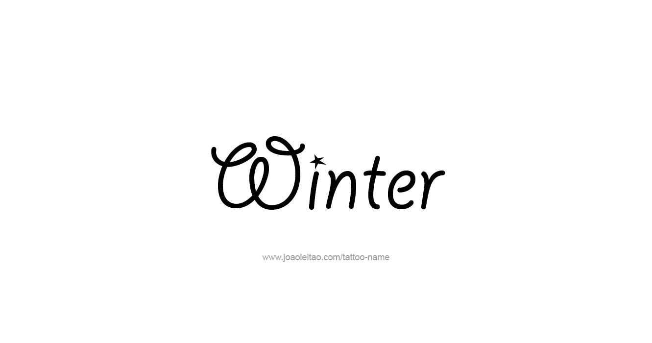 Tattoo Design Season Name Winter