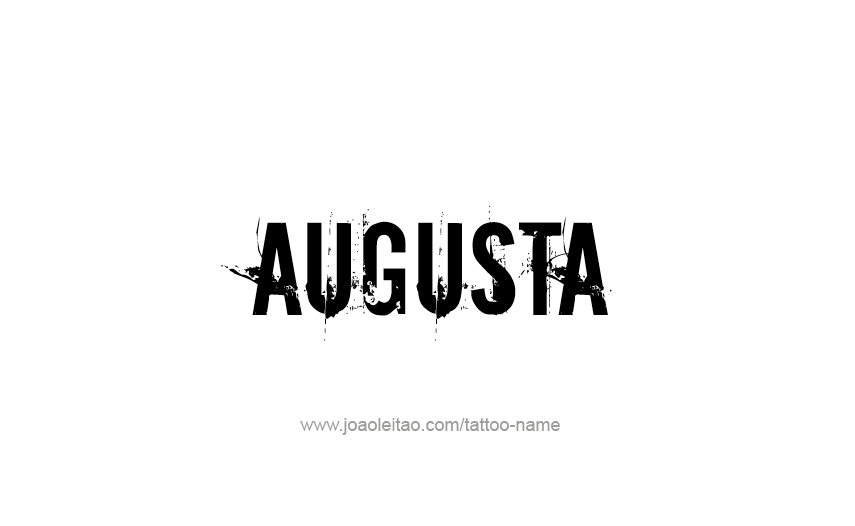Tattoo Design USA Capital City Name Augusta