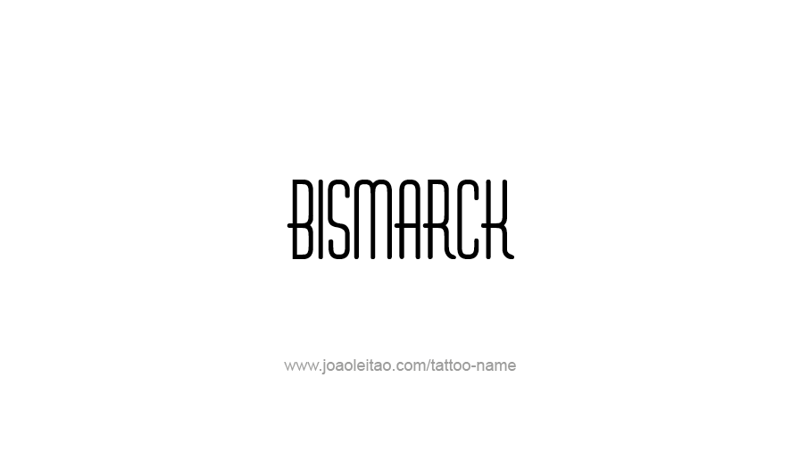 Tattoo Design USA Capital City Name Bismarck