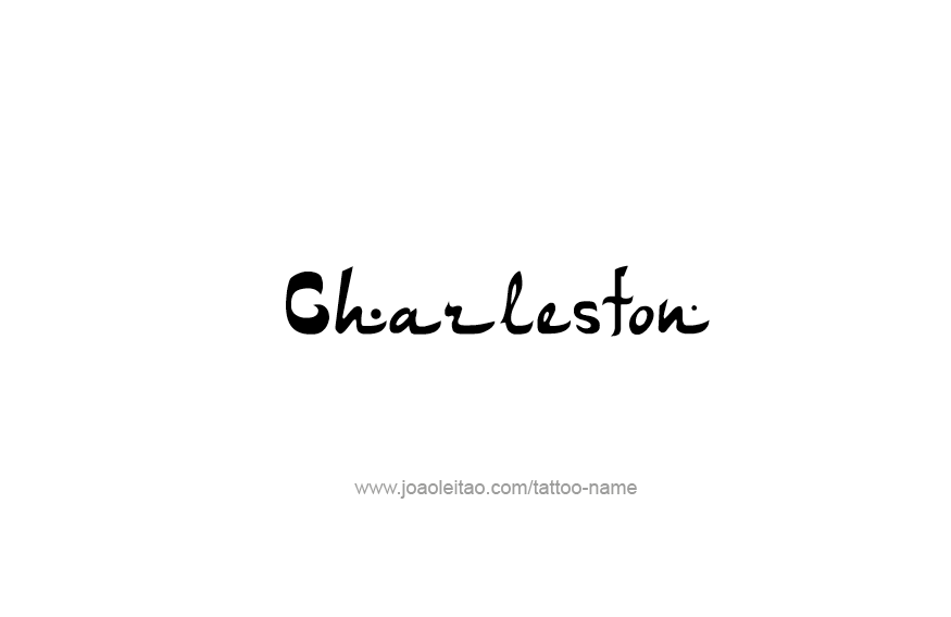 Tattoo Design USA Capital City Name Charleston