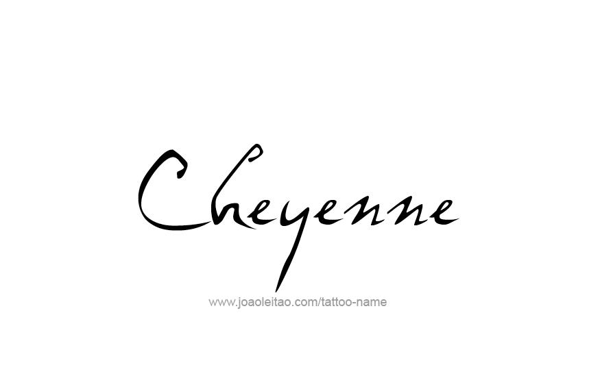 Tattoo Design USA Capital City Name Cheyenne