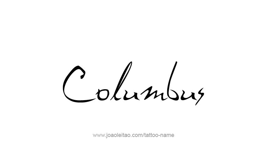 Tattoo Design USA Capital City Name Columbus