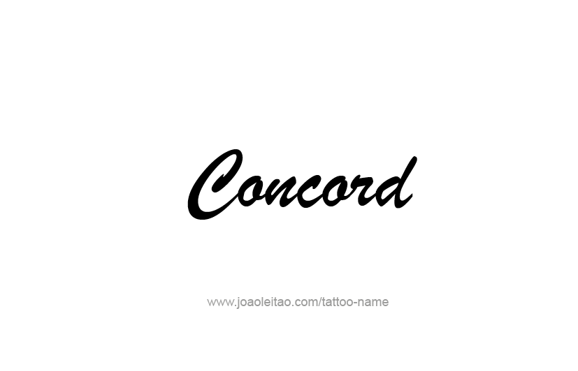Tattoo Design USA Capital City Name Concord